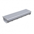 Grey PP channel + grate h. 7,5