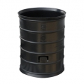 Black HDPE corrugated coupler for electrical conduit
