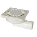 PP square trapped floor drain  with side outlet