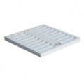 Light grey grate for catch pit made of PP