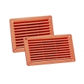 Coppery PP built-in rectangular grilles