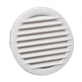 White PP built-in round air grilles