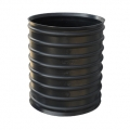Black HDPE coupler for sewerage