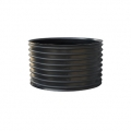 Black HDPE rotoweldable coupler for sewerage