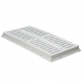 Rectangular frame + grey PP grates heavy series