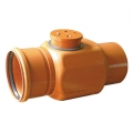 Brown PVC ral 8023 rubber ring Non return valve